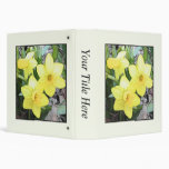 Spring's First Daffodils Vinyl Binders