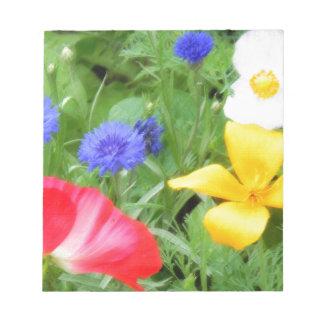 SPRINGS FLOWERS NOTEPAD