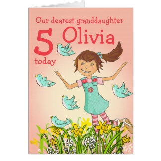 """""""Spring's in the air"""" granddaughter age card"""