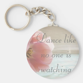 Spring's Promise Basic Round Button Keychain