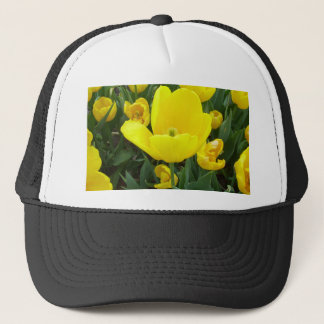 Spring's Sunshine Yellow Tulips CricketDiane Trucker Hat