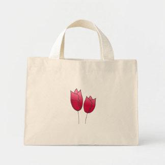 Springs  tulips mini tote bag