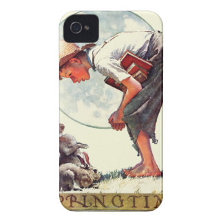 Springtime, 1935 boy with bunny iPhone 4 cover