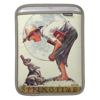 Springtime, 1935 boy with bunny iPad sleeves