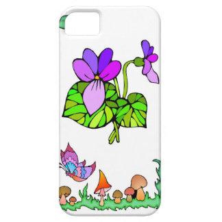 Springtime and flowers, Purple violets iPhone SE/5/5s Case