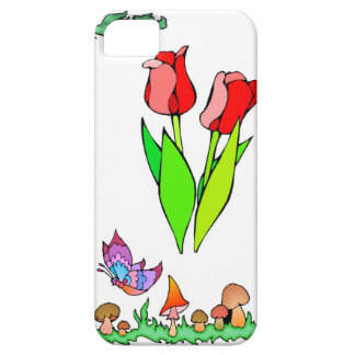 Springtime and flowers, Red tulips iPhone SE/5/5s Case
