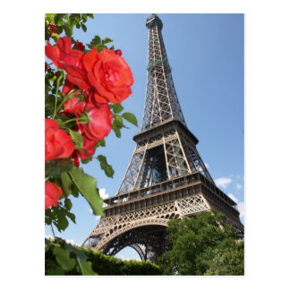 Springtime At Eiffel Tower Post Cards