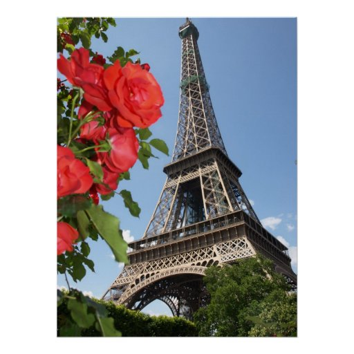 Springtime At Eiffel Tower Poster