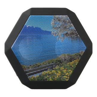 Springtime at Geneva or Leman lake, Montreux, Swit Black Bluetooth Speaker