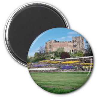 Springtime at Tamworth Castle  flowers Fridge Magnet