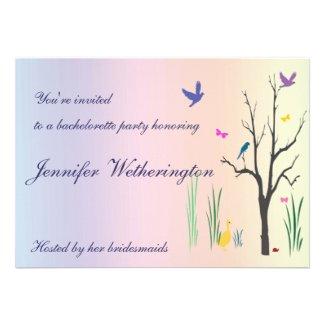 Springtime Bachelorette Party Invites