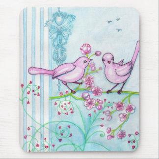Springtime birds Pretty Ladies Vertical Mousepad