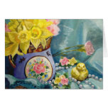 Springtime Bouquet Still Life Greeting Card