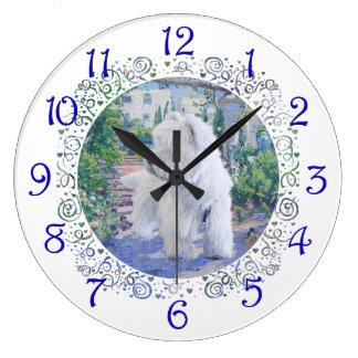 Springtime Bower Large Clock