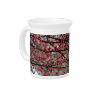 Springtime Buds Watercolor Beverage Pitcher