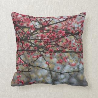 Springtime Buds Watercolor Throw Pillow