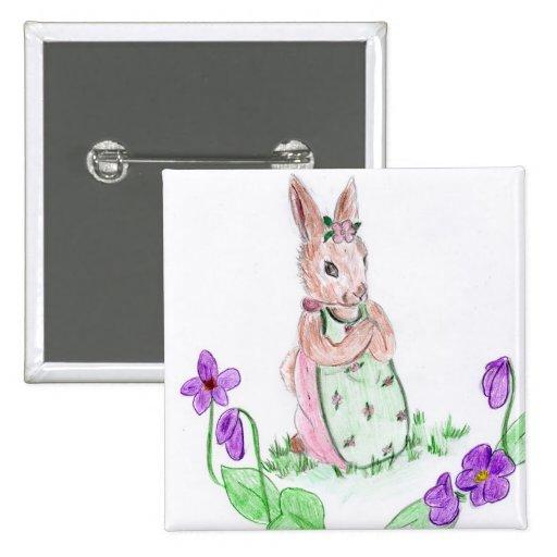 Springtime Bunny Buttons
