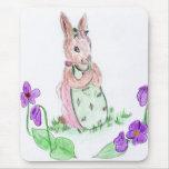 Springtime Bunny Mouse Pad