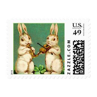 Springtime Bunny Musicians Postage