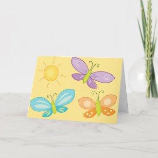 SpringTime Butterflies card