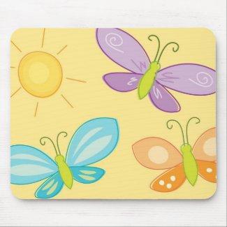SpringTime Butterflies mousepad