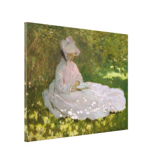 Springtime by Claude Monet Gallery Wrap Canvas