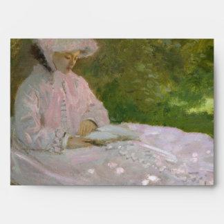 Springtime by Claude Monet Envelope