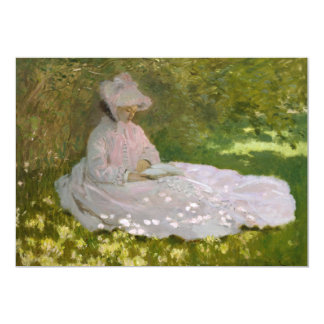 Springtime by Claude Monet Custom Invitation