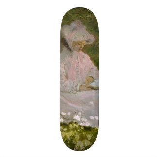 Springtime by Claude Monet Skateboard