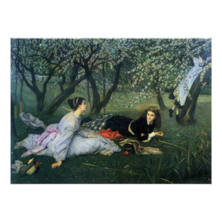 Springtime by James Tissot Posters