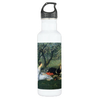 Springtime by James Tissot Stainless Steel Water Bottle