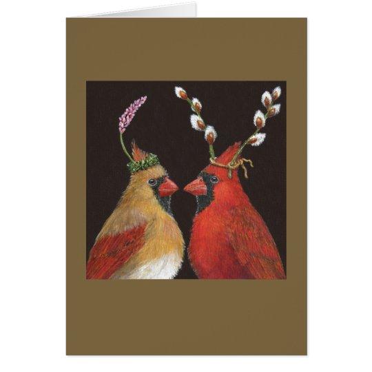 Springtime Cardinals Card