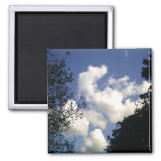 Springtime Clouds 2 Inch Square Magnet