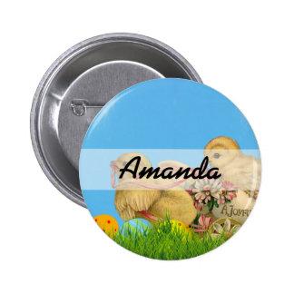 Springtime Easter Chicks Button