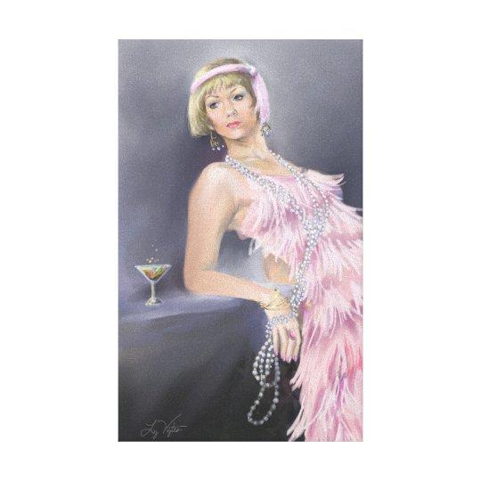 Springtime Flapper Stretched Canvas Print
