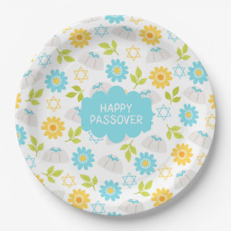 Springtime Floral  Passover Sedar Paper Plate