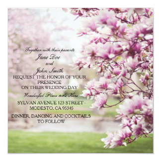 Springtime Floral Wedding Invitations