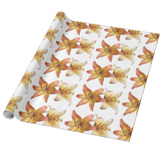 "Springtime Flower ""Day Lily"" Printed Wrapping Wrapping Paper"