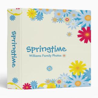 Springtime Flowers Vinyl Binder