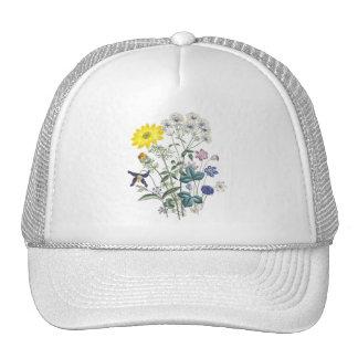 Springtime flowers mesh hat