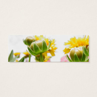 Springtime Flowers in Bloom Mini Business Card