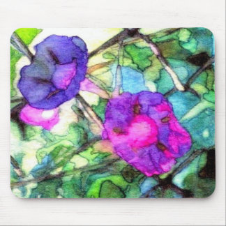Springtime Flowers Morning Glories CricketDiane Mouse Pad