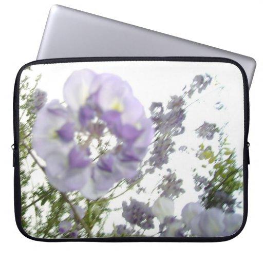 Springtime Flowers Purple Wisteria Floral Nature Laptop Computer Sleeves