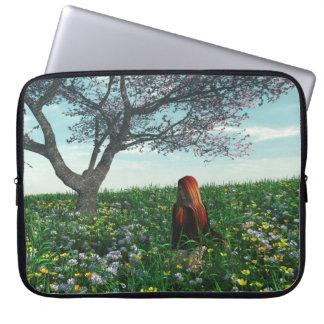 Springtime Girl Laptop Sleeves
