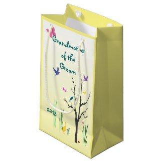 Springtime Grandmother of the Groom Small Gift Bag