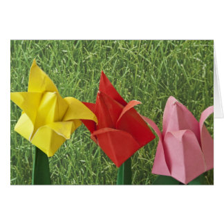 Springtime Greeting or Note Card Easter Tulips