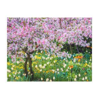 Springtime in Claude Monet's garden Canvas Print