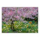 Springtime in Claude Monet's garden Card