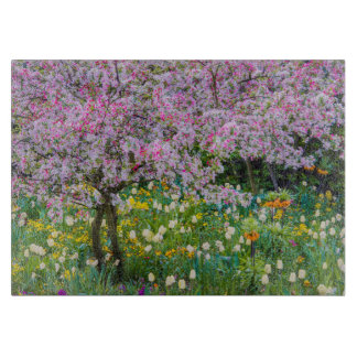 Springtime in Claude Monet's garden Cutting Board