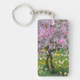 Springtime in Claude Monet's garden Keychain